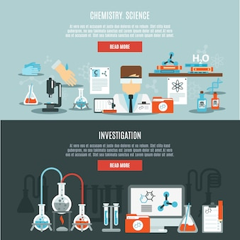 Set di banner di chimica