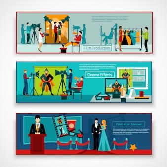 Set di banner di cinema people