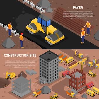 Set di banner di costruzione