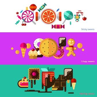 Set di banner di dolci