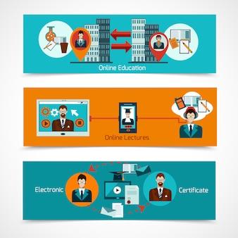 Set di banner di formazione online