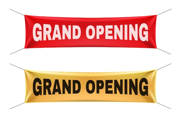 Set di banner di grande apertura