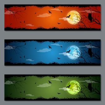Set di banner di halloween