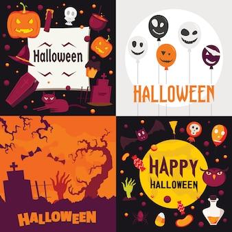 Set di banner di halloween.