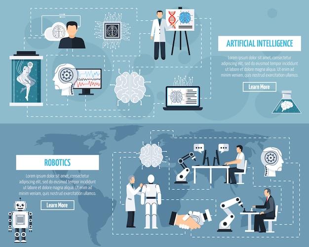 Set di banner di intelligenza artificiale