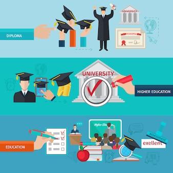 Set di banner di istruzione superiore
