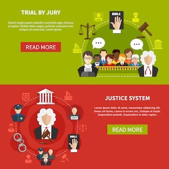 Set di banner di legge