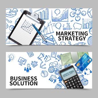 Set di banner di marketing