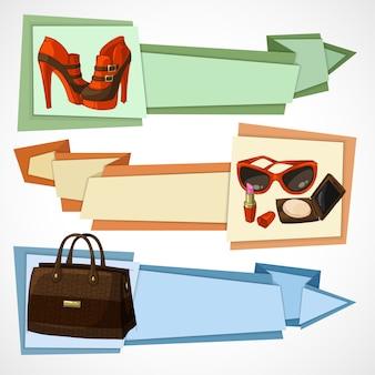 Set di banner di moda