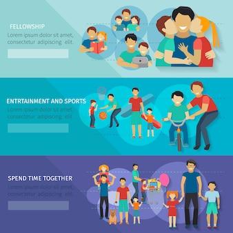Set di banner di paternità
