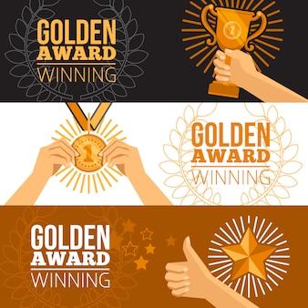 Set di banner di premi