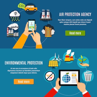Set di banner di protezione ambientale