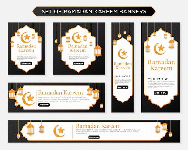 Set di banner di ramadan kareem