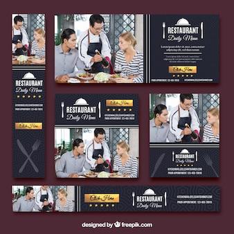 Set di banner di ristorante