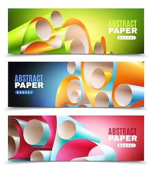 Set di banner di rotolo di carta
