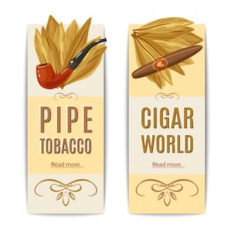 Set di banner di tabacco
