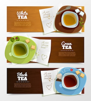 Set di banner di tè
