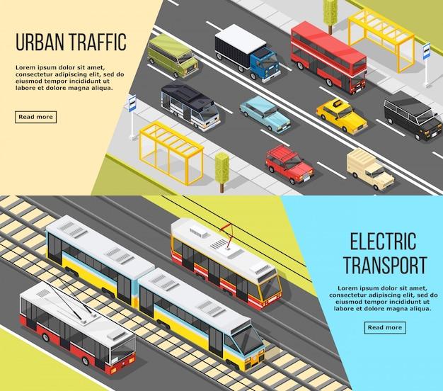 Set di banner di trasporto urbano