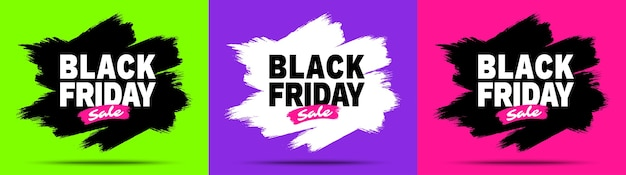 Set di banner di vendita del black friday.