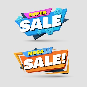 Set di banner di vendita geometrica