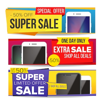 Set di banner di vendita