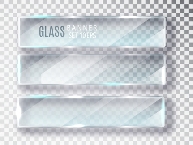 Set di banner di vetro.