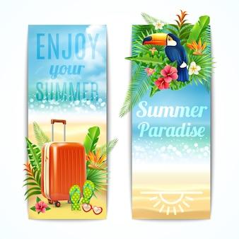Set di banner di viaggio