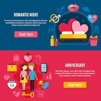 Set di banner due san valentino