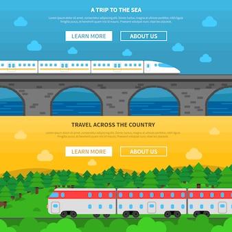 Set di banner ferroviario