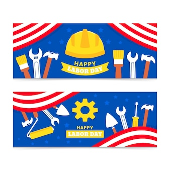 Set di banner festa del lavoro