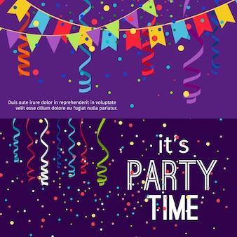 Set di banner festa di natale e capodanno