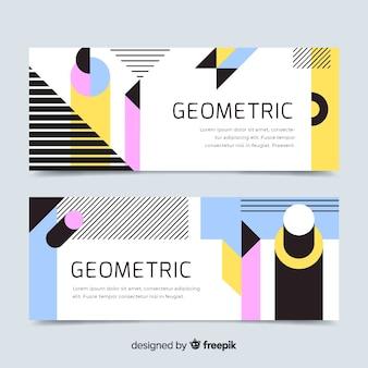 Set di banner geometrica astratta