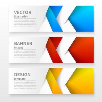 Set di banner geometrici