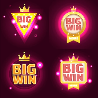 Set di banner grande vittoria