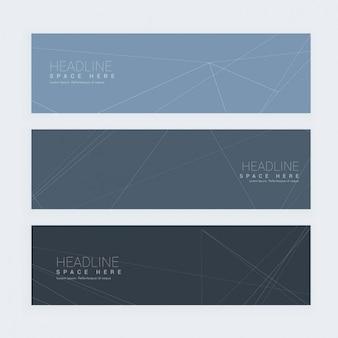 Set di banner in tonalità di grigio