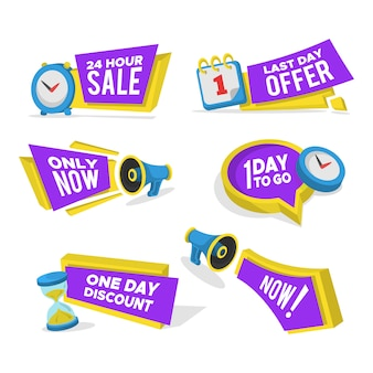 Set di banner in vendita