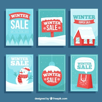 Set di banner invernali di vendita