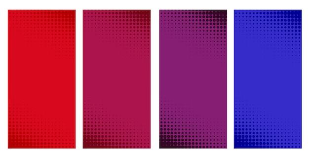 Set di banner mezzetinte