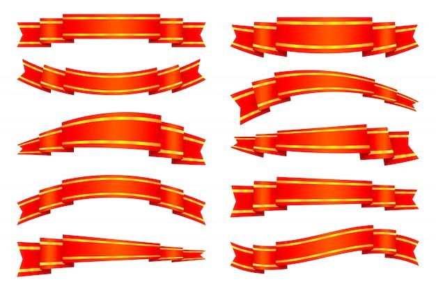 Set di banner nastro rosso
