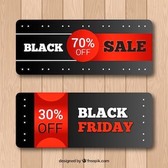 Set di banner neri di venerdì