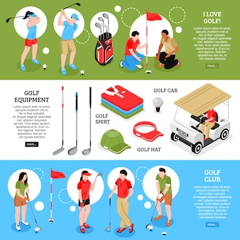 Set di banner orizzontale da golf