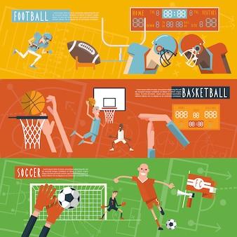 Set di banner orizzontali di sport di squadra