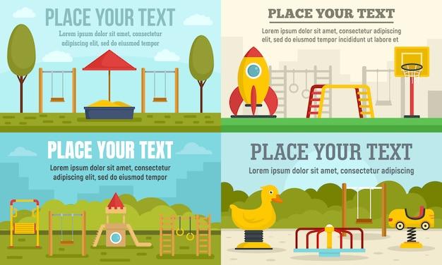 Set di banner parco giochi per bambini