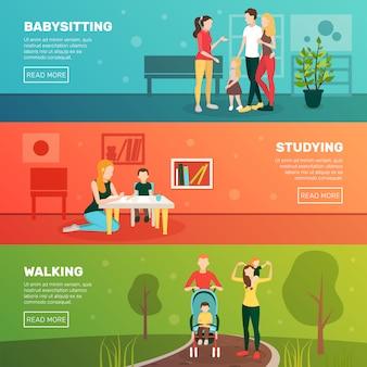 Set di banner per bambini baby-sitter