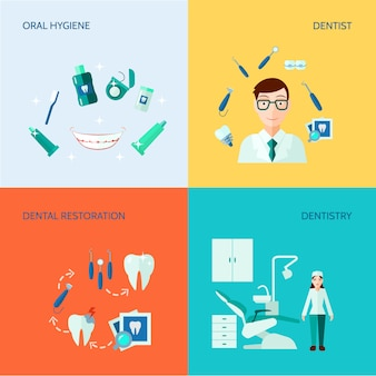 Set di banner per cure odontoiatriche e igiene orale