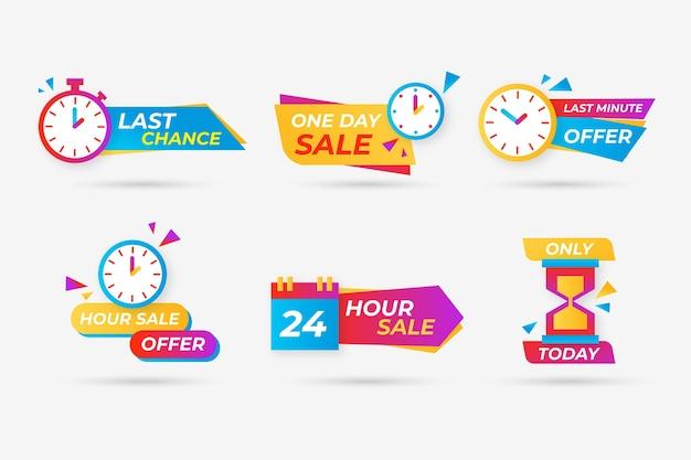 Set di banner per il conto alla rovescia delle vendite