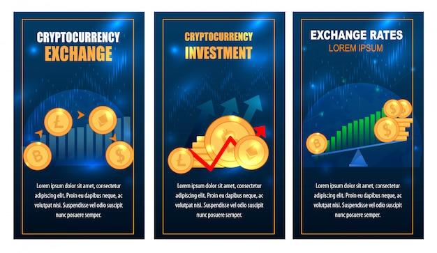 Set di banner per lo scambio di tecnologia ethereum