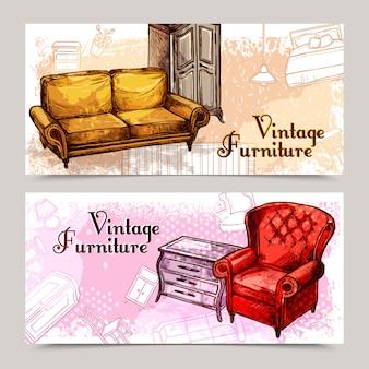 Set di banner per mobili
