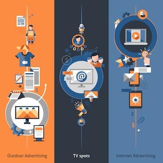 Set di banner pubblicitari