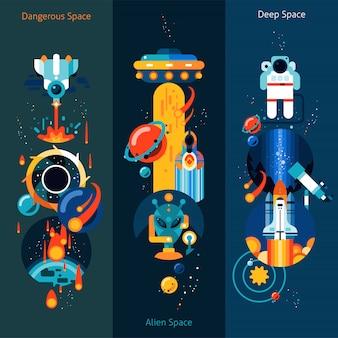Set di banner spaziale